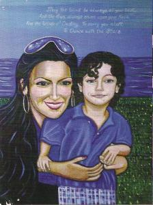 Untitled portrait of mother and her son.