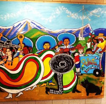 Orozco Academy painting by Mendoza. (Click on image to enlarge)