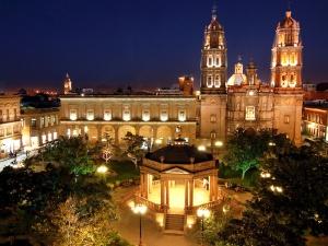 The town square in San Luis Potosi, Mexico