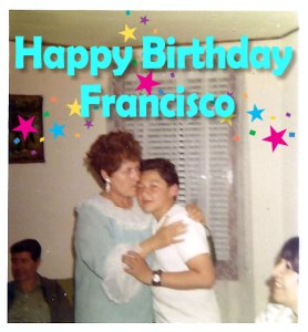 Francisco Mendoza photo with mother