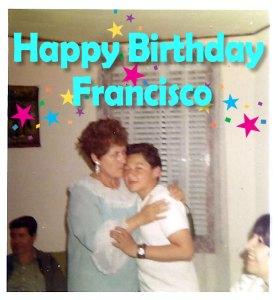 Francisco Mendoza photo with mother